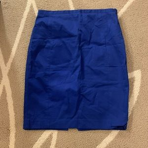 Express Blue Pencil Skirt